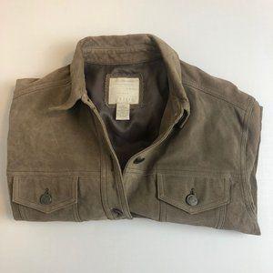 J.Jill Light Brown Leather Jacket Size Small